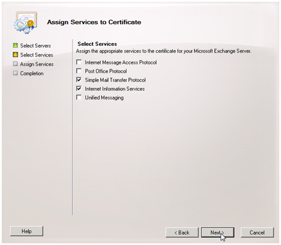 Figure 3.11: Completing the certificate request. You ll simply browse to the downloaded certificate file, select it, and you re done.