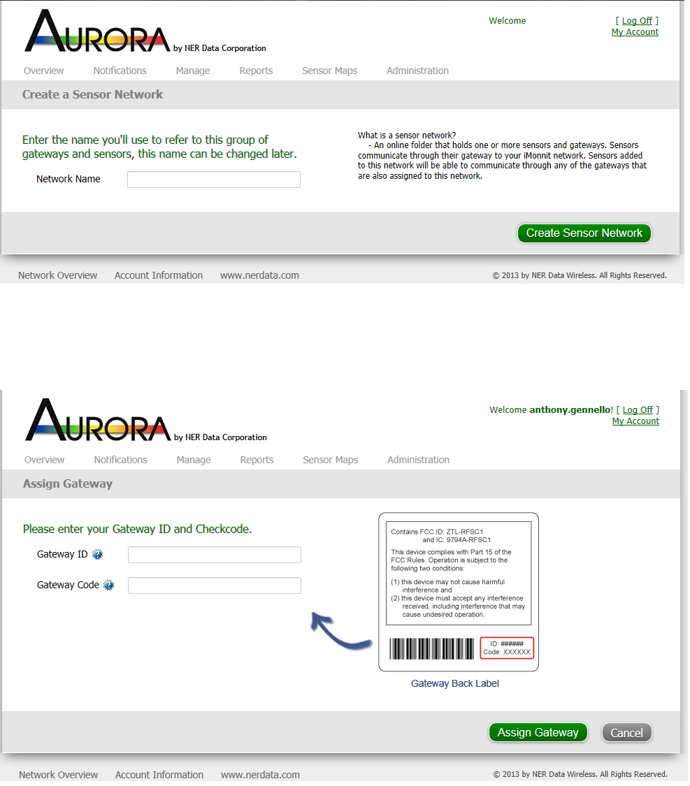 2. Login to the Aurora Online Monitoring System Proceed to https://aurora.nerdata.com and enter your username and password in the login fields and click the Login button. 3.