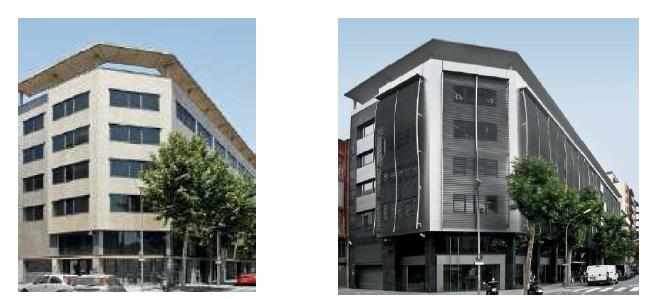 Smart Lighting Energy Savings Reality before after Office building Barcelona refurbished
