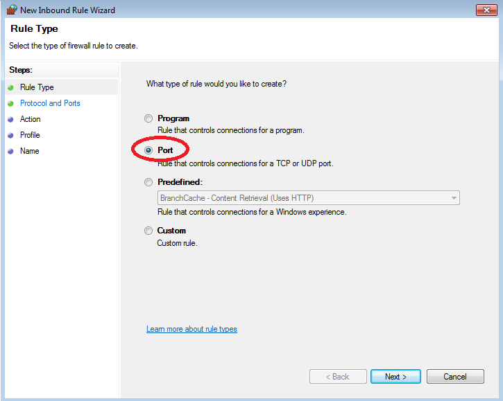Step 3: Create an Inbound Rule to allow UDP port 1434 for the SQL Server Browser to listen on. A.