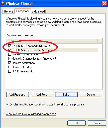 Q. Once you click OK, the Windows Firewall dialog will be displayed again. R.
