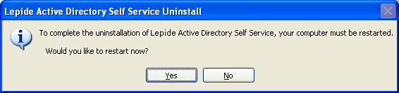 Perform the following steps to uninstall the Lepide Active Directory Self Service software through Windows Start Menu: 1.