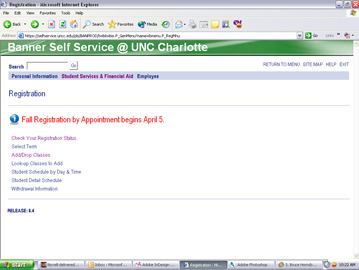 Log in to Banner Self Service.