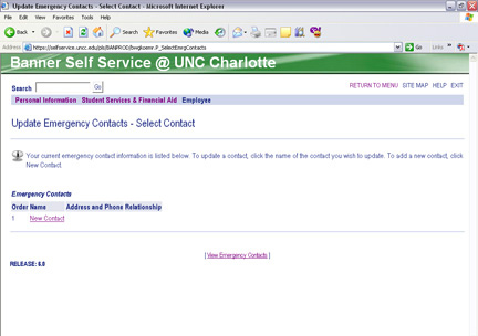 17 Updating Emergency Contacts In case of an emergency, it is vital to have up-to-date contact information on file with the University.
