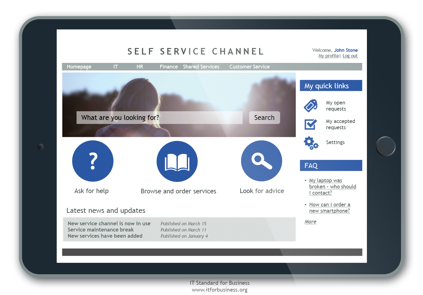 6.8 Service Management Self Service and Automation Figure 6.