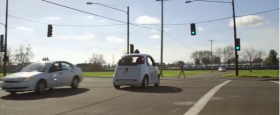 Google's self-driving cars hitting the road already.