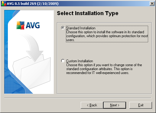 Attention: Here you are choosing the language for the installation process only.