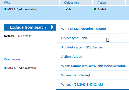 7. See How Netwrix Auditor Enables Complete Visibility Filter Value Specify your SQL Server instance name.