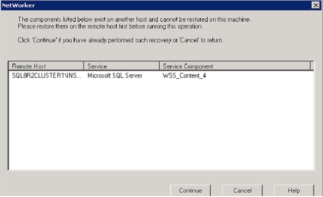 Directed Recovery of a SharePoint Web Application Figure 42 Successful recovery 10.