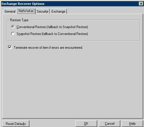 Microsoft Exchange Server 2007 Backup and Recovery After performing a point-in-time recovery, roll-forward recovery cannot be performed because the point-in-time recovery replaces the logs that were
