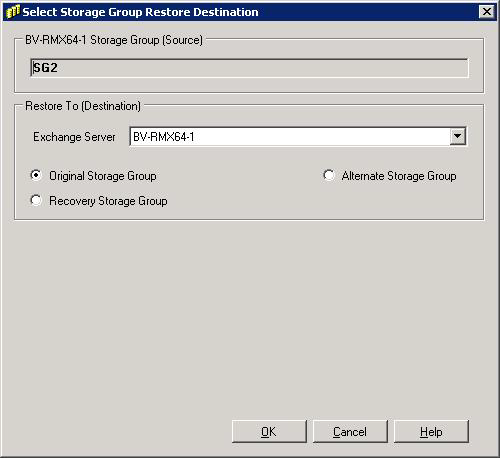 Microsoft Exchange Server 2007 Backup and Recovery 3. If the alternate recovery storage group is not available, then the No Recovery Storage Group exists dialog box appears: a.
