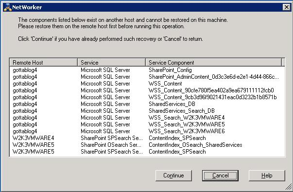 Microsoft SharePoint Server 2007 and 2010 Backup and Recovery Perform a full recovery of a distributed SharePoint farm This section provides the basic procedure that must be followed for full