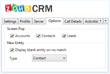 ZohoCRM If multiple matches are found then the Multiple Contacts Found is shown and enables the User to select the correct record to be displayed.