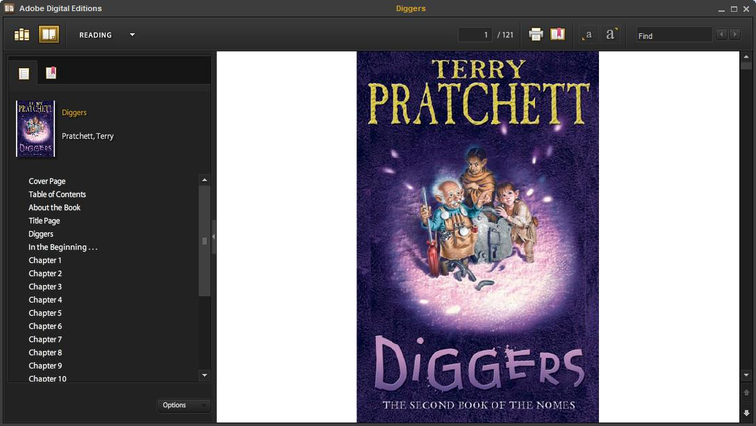 Adobe Digital Editions Virtual Bookshelf If you have Adobe Digital Editions installed it will open on your PC and display all of your downloaded ebooks.