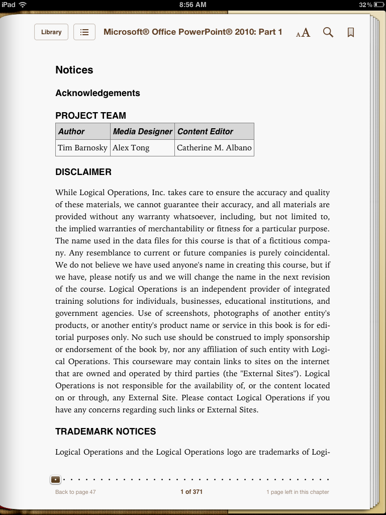 5. If using ibooks, the app will download the epub file to