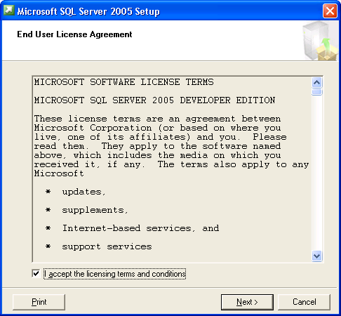 SQL Server 2005 Information Creating a new SQL instance for ProSystem fx Engagement This section provides step-by-step instructions for creating a new SQL 2005 instance for ProSystem fx Engagement.