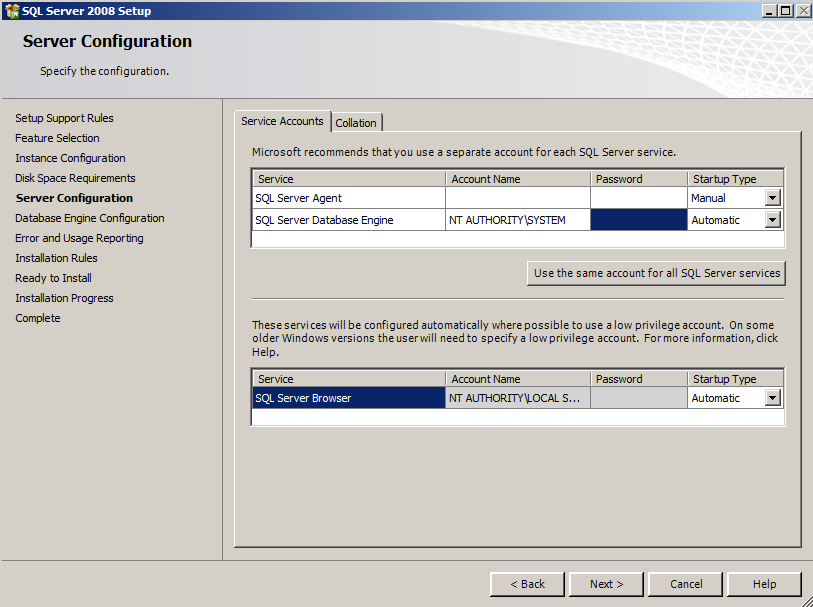11) The Disk Space Requirements screen will appear. Click Next to continue.