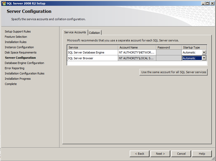 7) Select Named Instance and type in PROFXENGAGEMENT on the Instance Configuration screen. Click Next to continue.