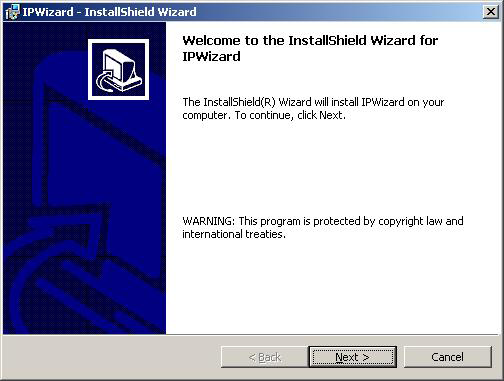 Chapter6. Initial Utility Installation and operation 6.1 IPwizard Installation 1. Insert the bundled CD into the CD-ROM drive to launch the autorun program.