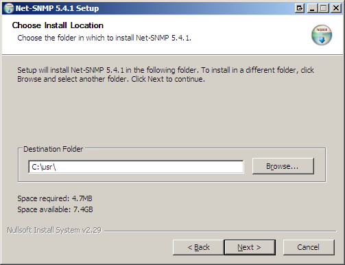 "as a standard agent as a ""subagent"" of the Microsoft SNMP agent Select the second option : Next,"