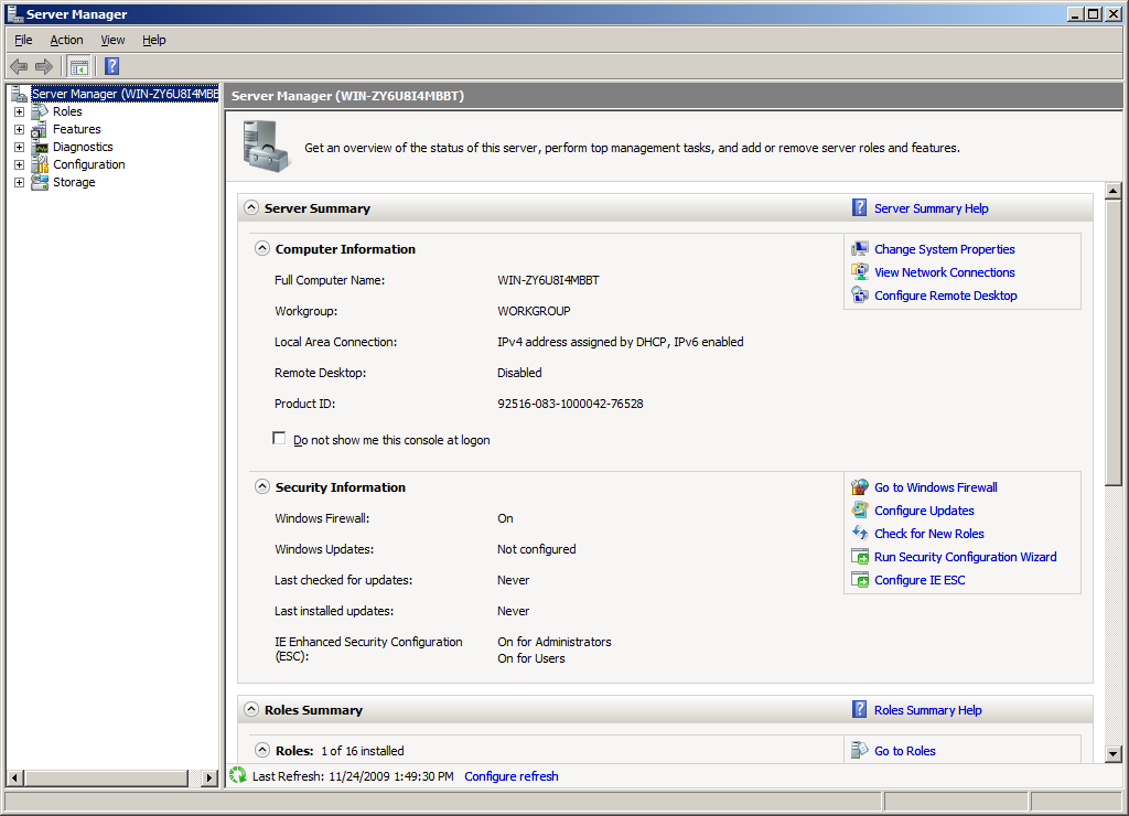 3.2 Installation on Windows Server 2008 with IIS 7.0 Installing Onsight Management Suite on Windows Server 2008 requires that the server first be properly configured to host ASP.NET web applications.
