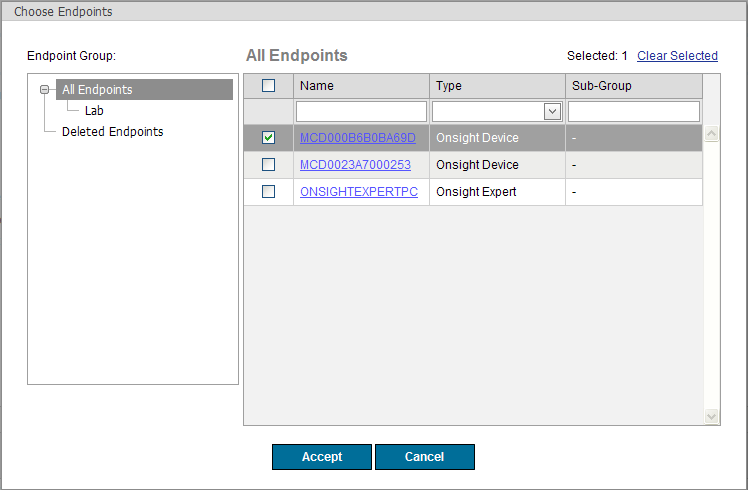 Endpoints Only display statistics that were reported by the specified endpoints. The default is to view statistics reported by any endpoint.