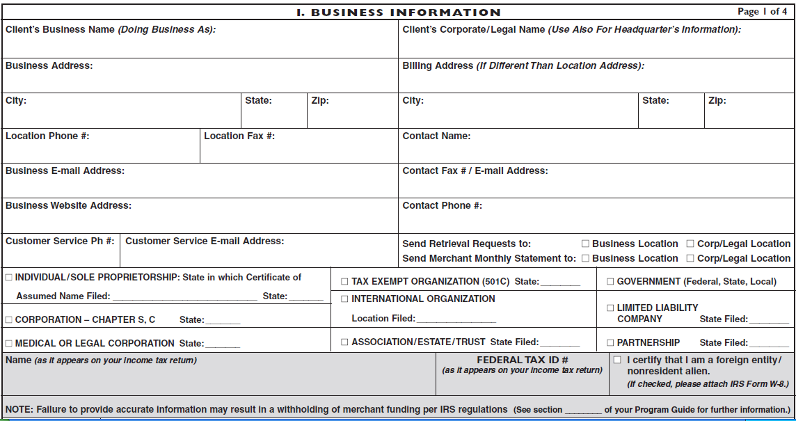 Section 1 Business Information The Business Information section of the MPA encompasses the Doing Business As