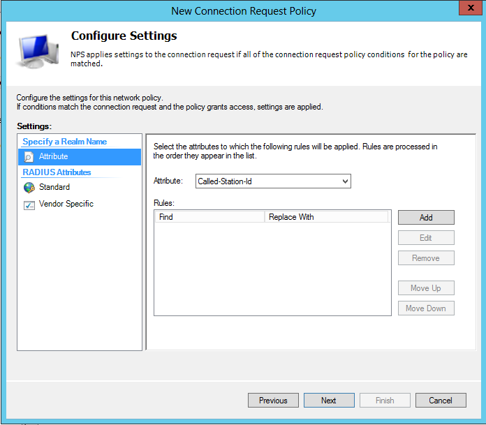 On the Completing Connection Request Policy Wizard page, click Finish Create a Network Policy on Windows Server 2012 NPS From the Network Policy Server Console, right click on Network
