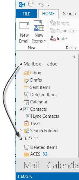 Storing Outlook Files Store Outlook messages, contacts, appointments, tasks, notes, and journal entries in one of the following two locations: Outlook Mailbox Personal Folders (.