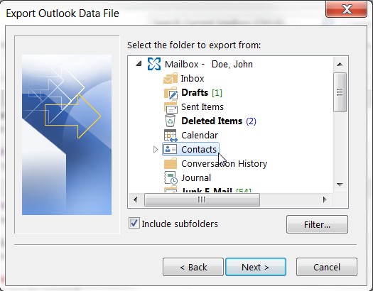 Import PST Files to another Outlook Client or Different Computer If you would like to import the.pst file to another Outlook client on a different machine, you must first back up the.