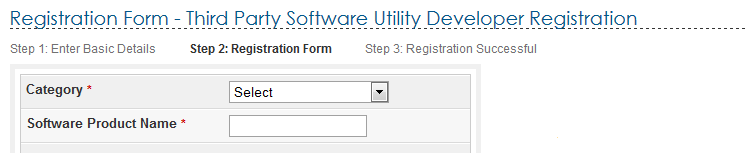 Third Party Software Utility Developer Registration A Third Party Utility Provider should have a valid PAN for registering with the e-filing application.