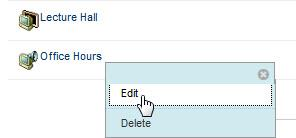 While you can easily start an impromptu chat by clicking the Office Hours button, instructors wishing to keep recorded copies of chat sessions should name the chat session prior to launching it.