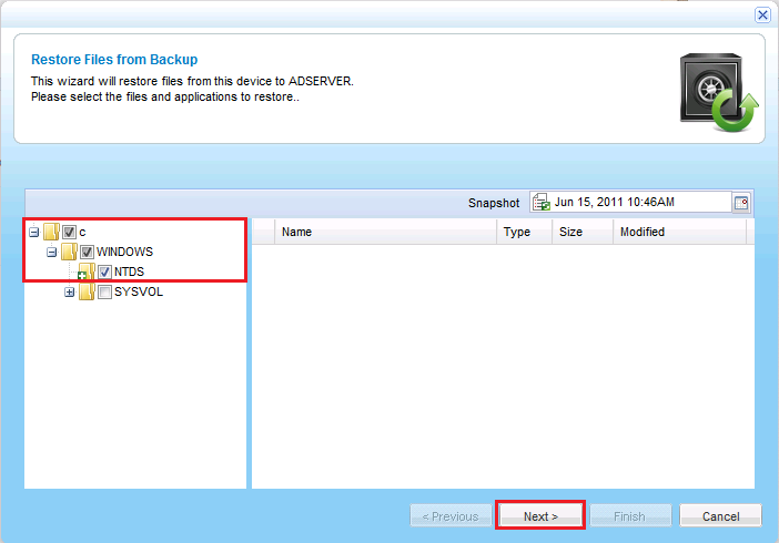 6 Restoring System State Data, NTDS, and SYSVOL In Windows 2008 Server, log in using the local administrator account, by specifying the following user name: <ComputerName>\Administrator.