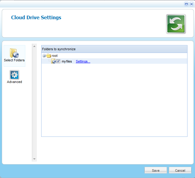 Using the CTERA Agent in Cloud Agent Mode 5 2 Click Unsuspend. Cloud drive synchronization is no longer suspended, and you can now configure the desired settings.