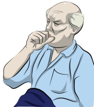 NSCLC - Common Symptoms 1 Constant cough Trouble breathing Shortness of breath Continuous chest pain Coughing up blood Hoarse voice Frequent lung infections Always feeling tired