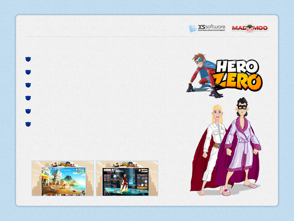 Publishing Hero Zero is a free to play massively multiplayer online role-playing (MMORPG) game. From Zero to Hero!