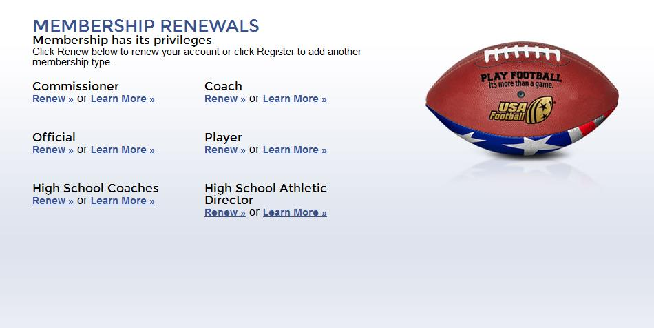 3. Select the Renew link for your expired Coach Membership 4.