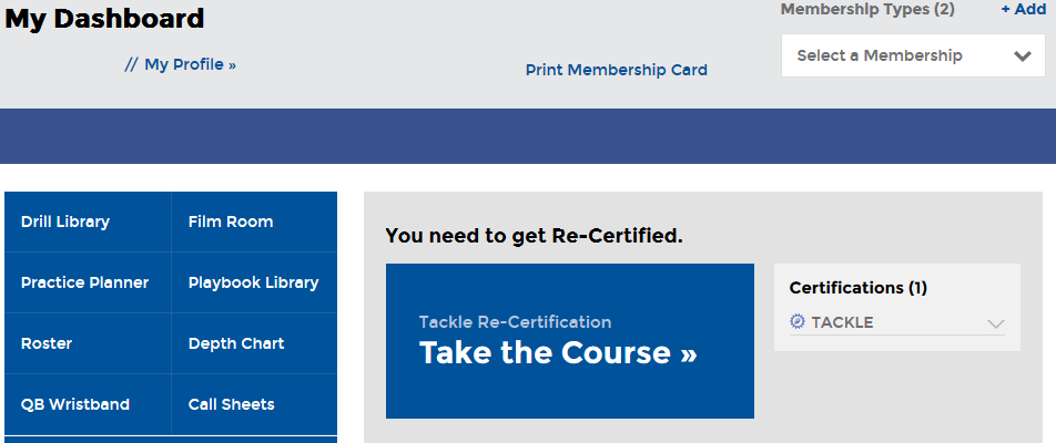 Accessing a certification course 1.