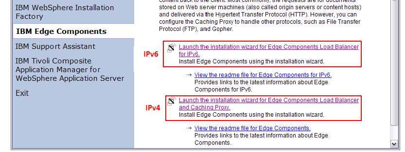 according to the package you downloaded: IPv4: Launch the installation wizard for Edge