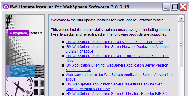 "h. On the ""Installation Complete"" screen, click Launch IBM Update Installer for WebSphere Software on exit, and then click Finish."