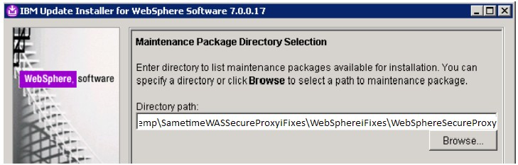 "On the ""Maintenance Operation Selection"" screen, click Install maintenance package, and then click Next. d."