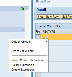 Setting up an Initiator/Agent Rule Decision Table Values Now the Condition Statement can be configured.