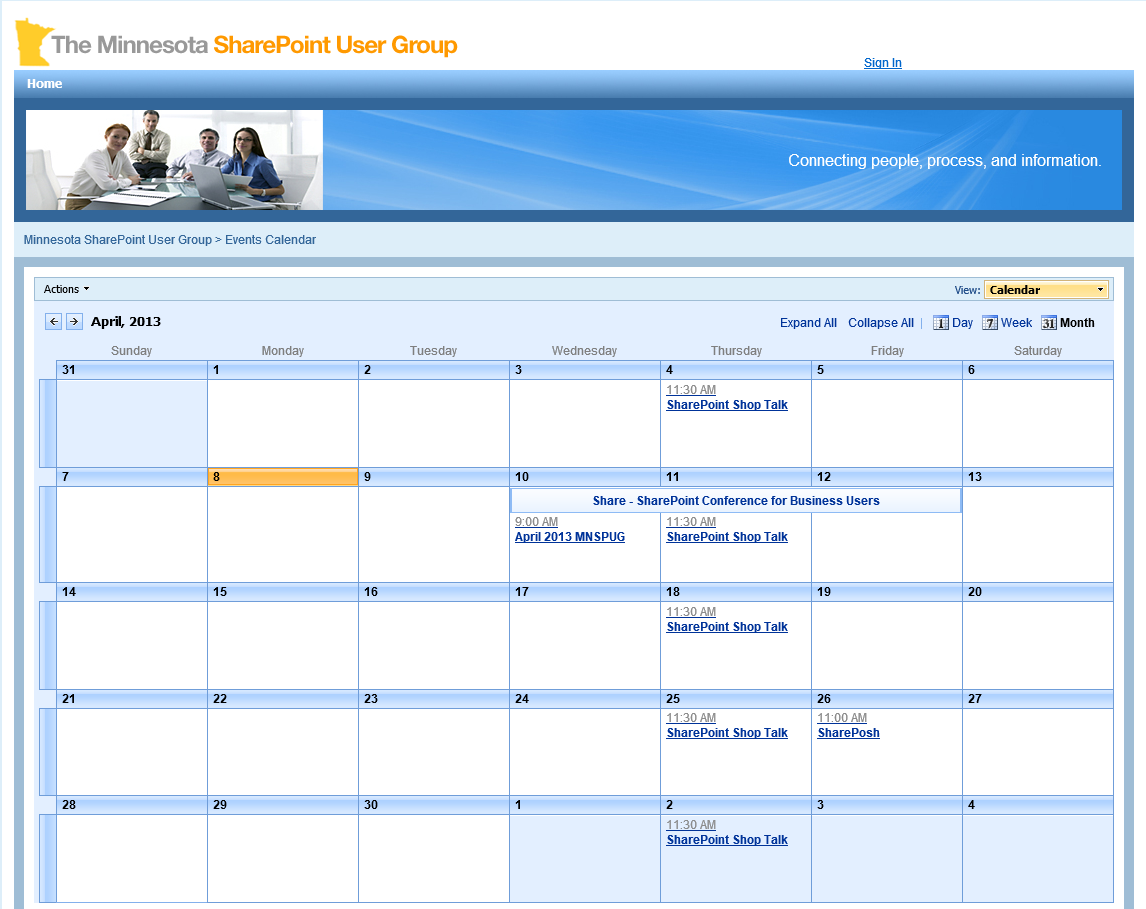 MN SharePoint Users Group Website SharePoint Resource Documents