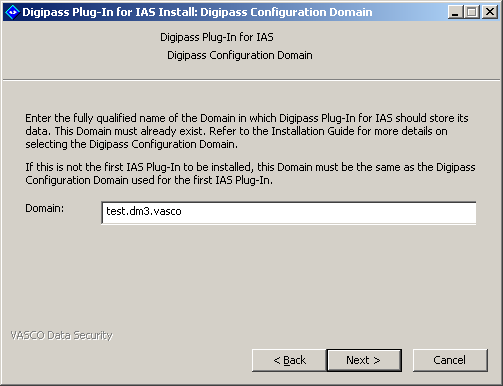 Installing Digipass Pack for IAS 13. Click on Next. 14.