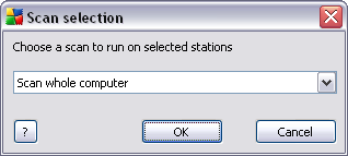 Synchronize settings - will ask for immediate synchronization of stations' settings with the AVG DataCenter.