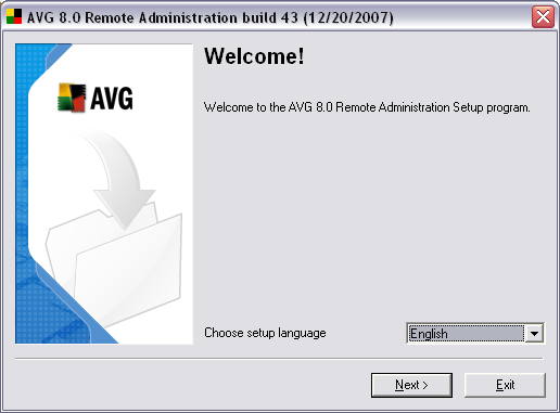 2.4. License Agreement This dialog window offers the full wording of the AVG 8.5 Anti-Virus Network Edition license agreement.