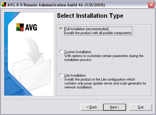 2.5. Installation Type In this dialog select which type of Remote
