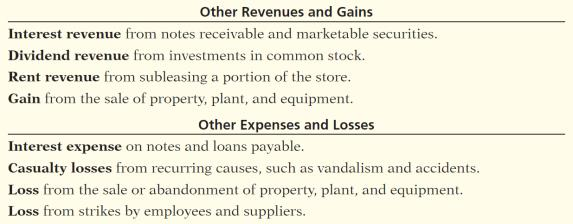 Multiple- Step Key Items: Net sales Gross profit Operating expenses Nonoperating activities 5-47 Illustration 5-13 Illustration 5-14