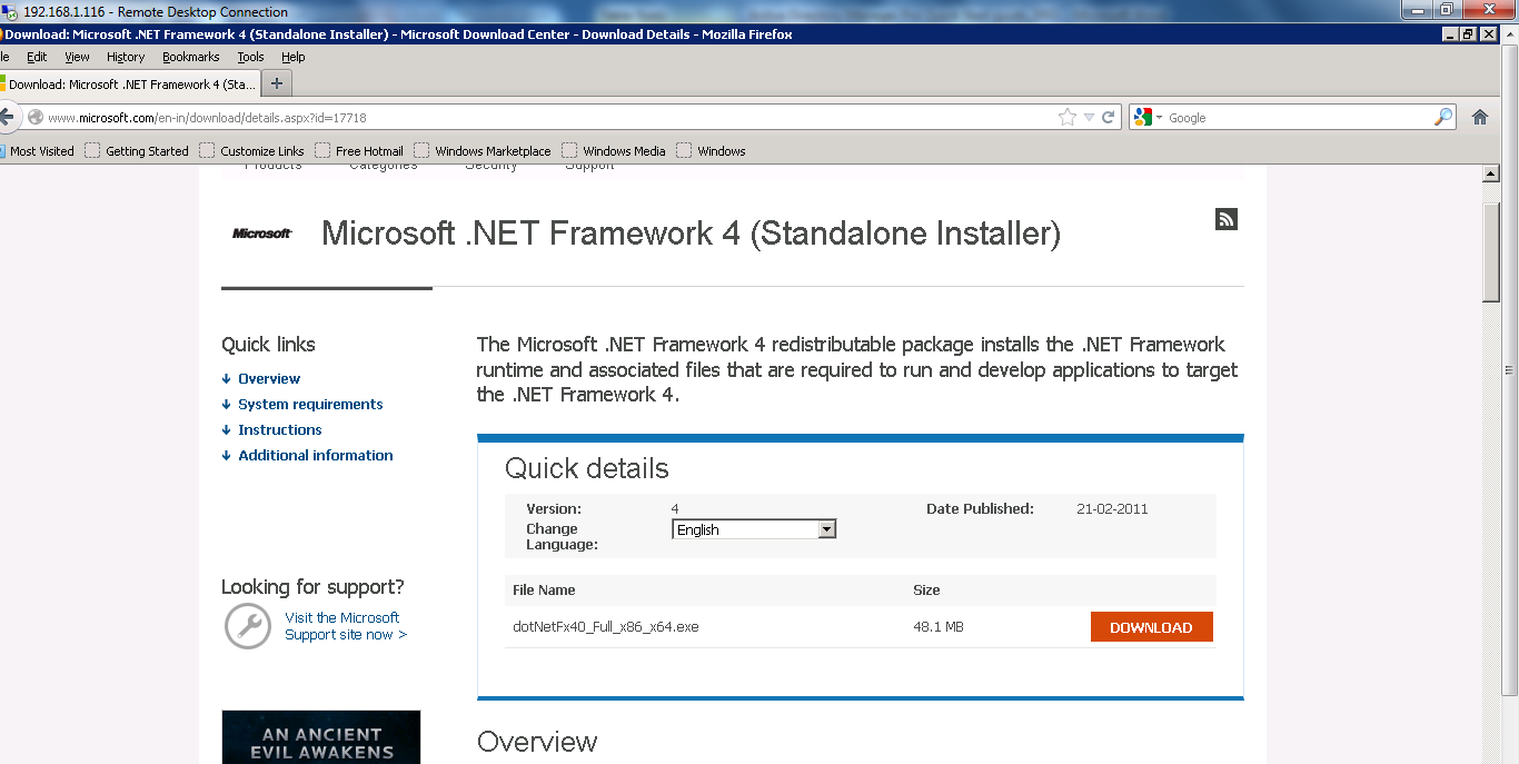 To install the.net version Click on Below Link http://www.microsoft.com/en-in/download/details.aspx?