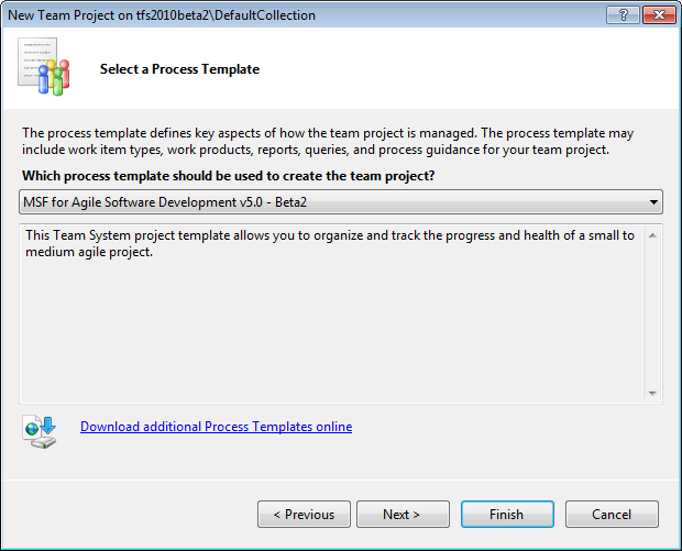 Page 128 of 243 You should now be on the Select a Process Template dialog.